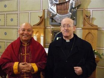 Master Tanpai Rinpocse és Márfi Gyula érsek
